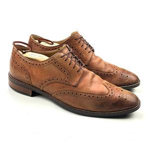 Cole Haan Brown Wingtip Dress Shoes Men's Lace up